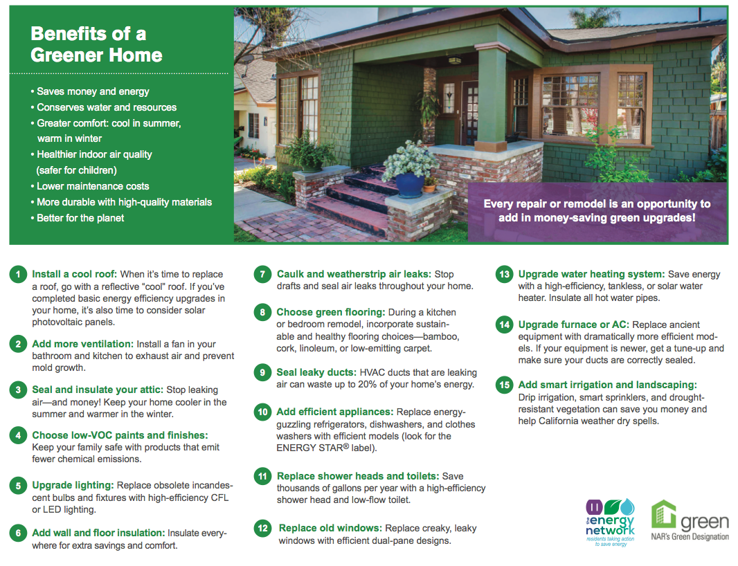 Greenhome los angeles real estate green home guide for Green home guide
